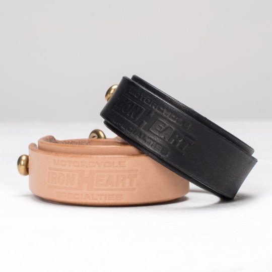 Natural or Black Tochigi Leather Double Wrap Bangle