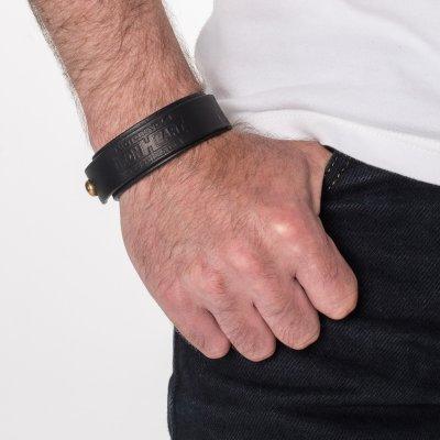 Natural or Black Tochigi Leather Double Wrap Bangle