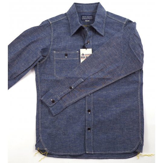 Slubby Blue Mid-Weight Chambray Workshirt