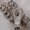 """Silver """"Motorcycle Chain"""" Wallet Chain"""