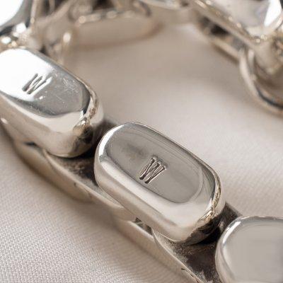 "Silver ""Caterpillar Track"" Bracelet"