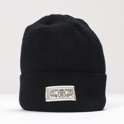 Navy or Black 100% Cotton Ribbed Beanie