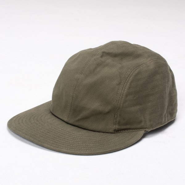"Papa Nui Olive Cotton Herringbone ""Fort Pierce"" Cap"