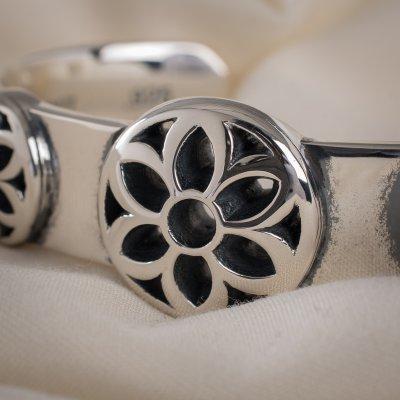 GOOD ART HLYWD Triple Rosette Cuff Bracelet