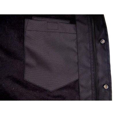 Black Fleece Lined Cordura Windbreaker