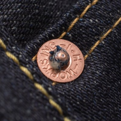 Indigo 14oz Sanforized But Unwashed Selvedge Denim Super Slim Tapered