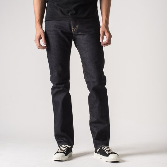 Indigo New 14oz Sanforized But Unwashed Selvedge Denim Super Slim Tapered