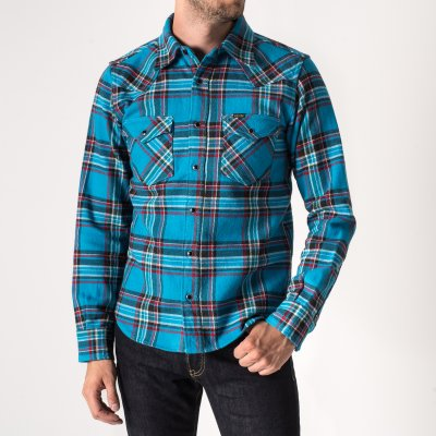Sax Ultra Heavy Almost Crazy Check Western Shirt