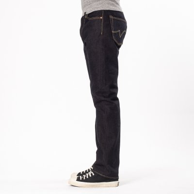 Indigo 14.7oz Eco Selvedge Denim Medium/High Rise Tapered Cut