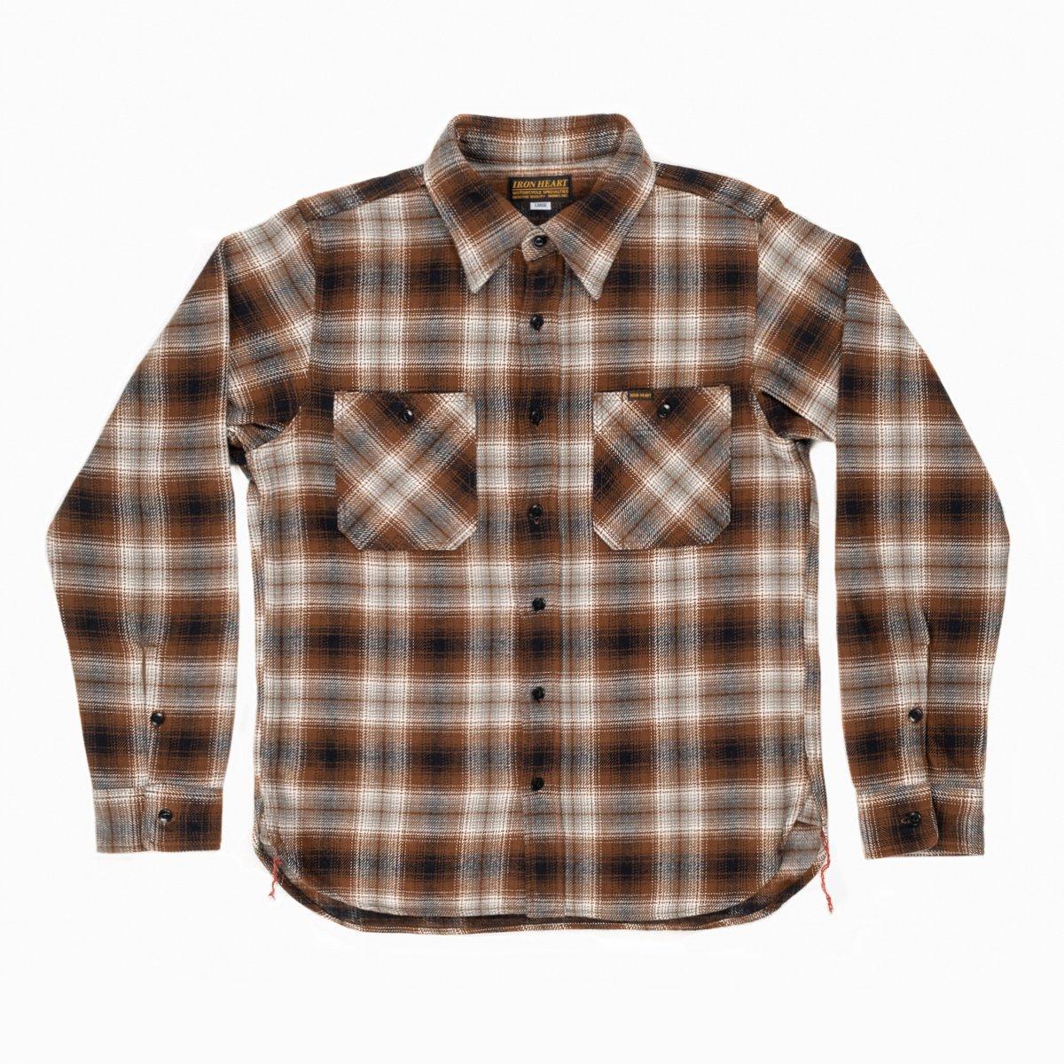 b14ca5485cb Brown Ultra Heavy Flannel Classic Check Work Shirt