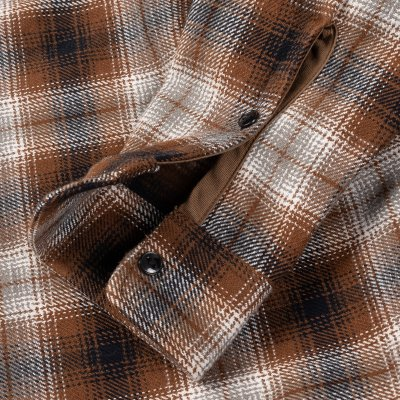 Brown Ultra Heavy Flannel Classic Check Work Shirt