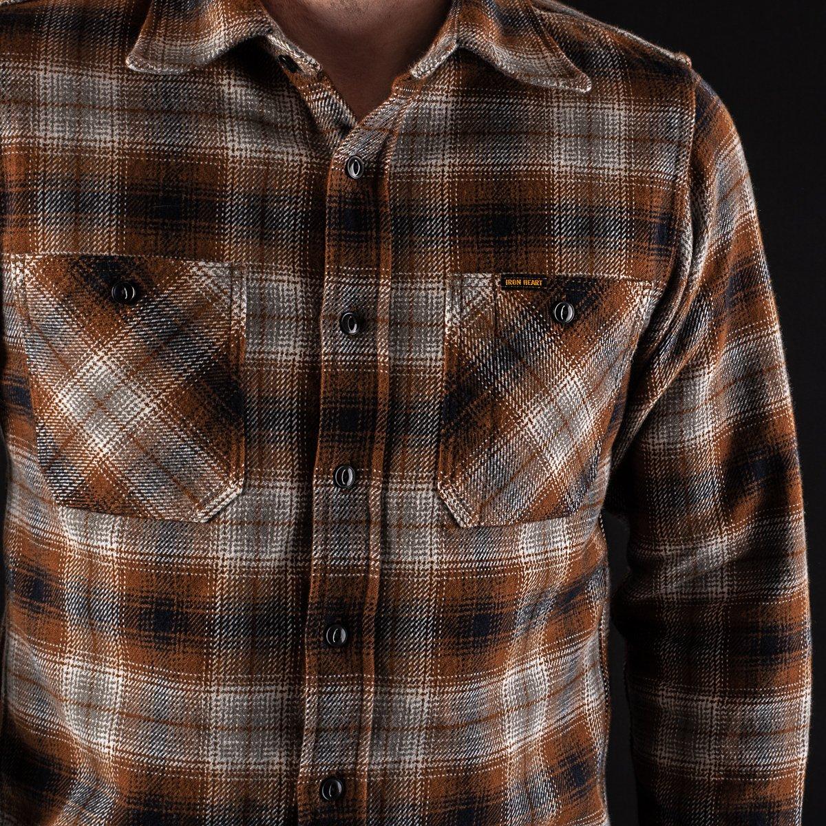 6ec1243ff94 ... Brown Ultra Heavy Flannel Classic Check Work Shirt