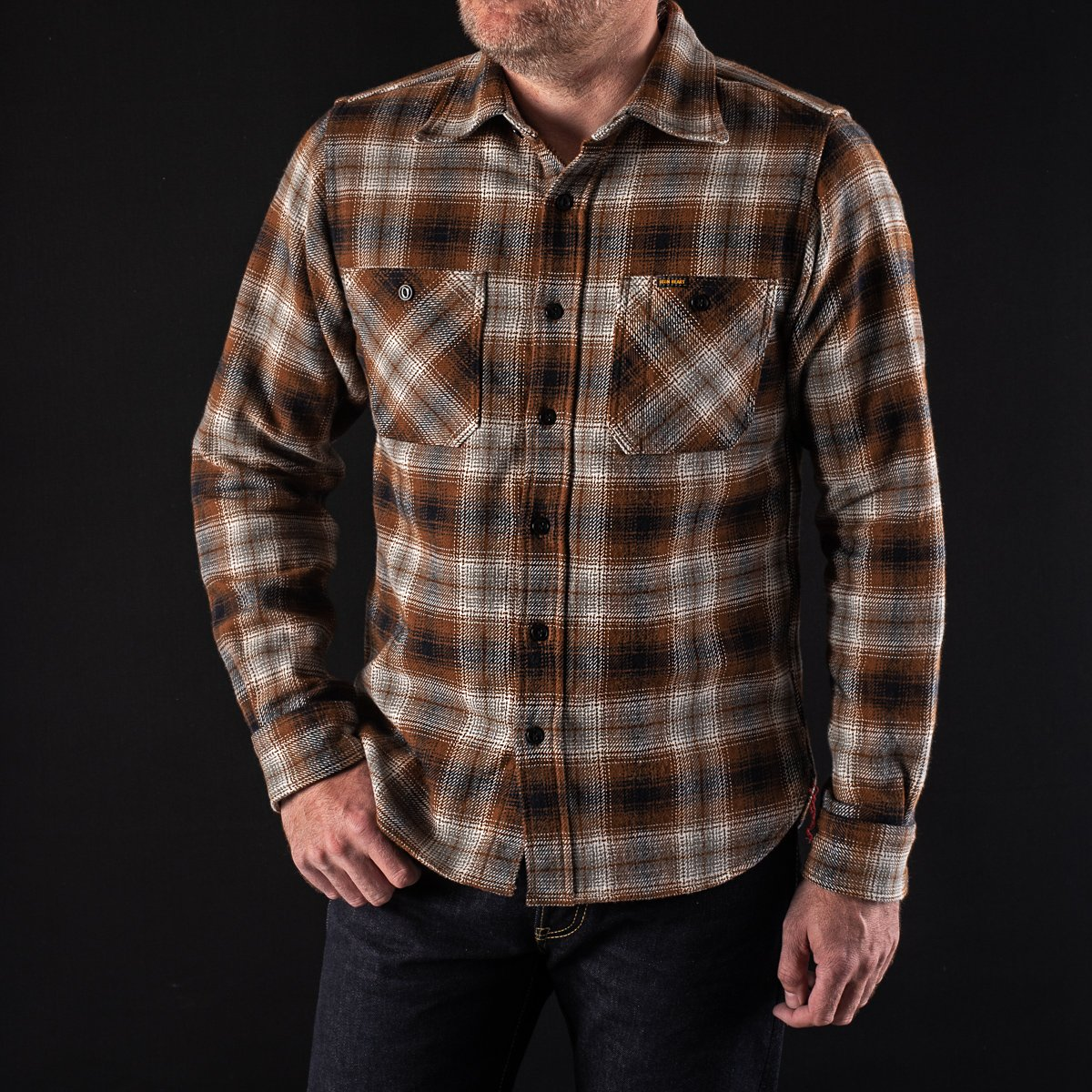 7dafed34476 ... Brown Ultra Heavy Flannel Classic Check Work Shirt ...