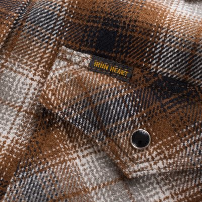 Ultra Heavy Classic Check Western Shirt in Brown