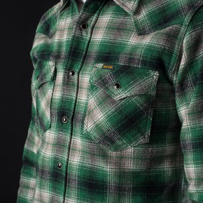 Ultra Heavy Classic Check Western Shirt in Green