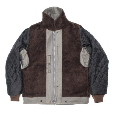 Alpaca Lined Whipcord N1 Deck Jacket - Grey