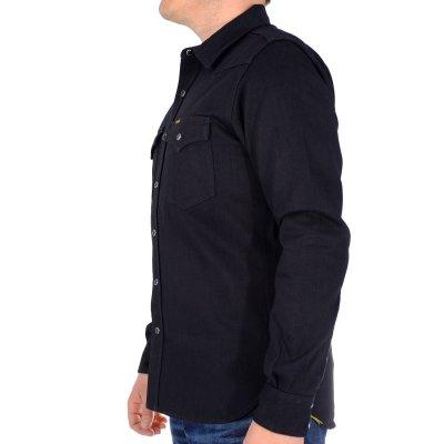 The Johnny Cash - Black 12oz Selvedge Denim Western Shirt