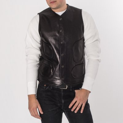SFK & Life Goatskin Leather Work Vest by Faith in Black or Brown