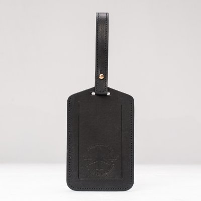OGL FMTTM Leather Luggage Tag Black