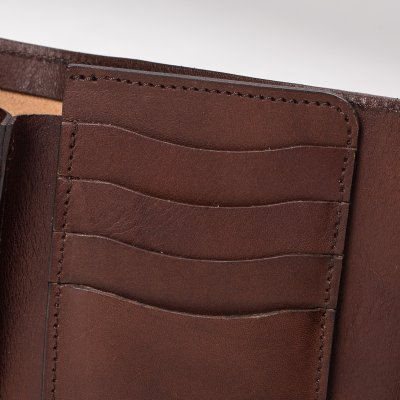 OGL WX2 Tri Fold Short Wallet Dark Brown