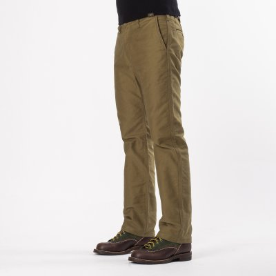 Khaki Cotton Whipcord Work Pants