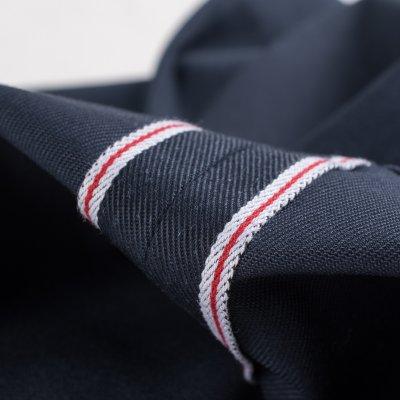 Navy Mercerised Selvedge Cotton Slim Tapered Chinos