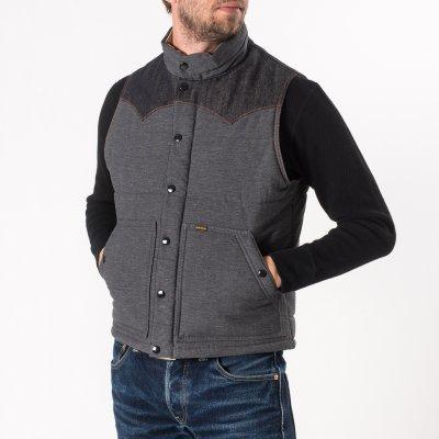Black Cotton Padded Vest
