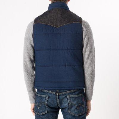 Indigo Cotton Padded Vest