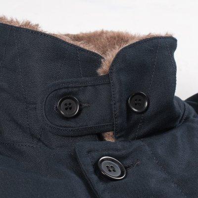 Alpaca Lined Whipcord N1 Deck Jacket - Navy