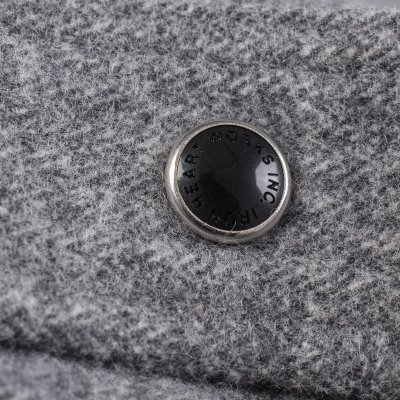 Grey Cotton Herringbone Western Shirt