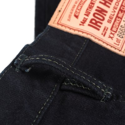 Overdyed New Indigo 14oz Selvedge Denim Slim Straight Cut
