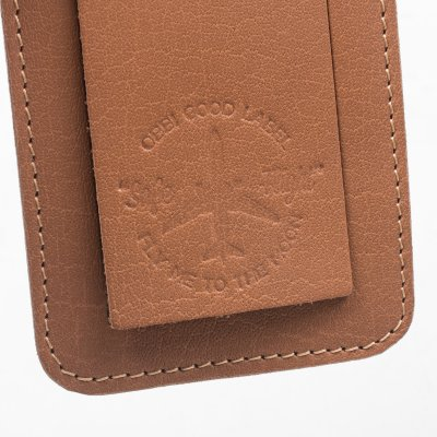 OGL FMTTM Leather Luggage Tag Taupe