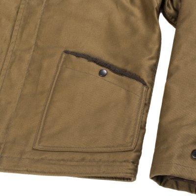 Alpaca Lined Whipcord B-2 Jacket - Khaki