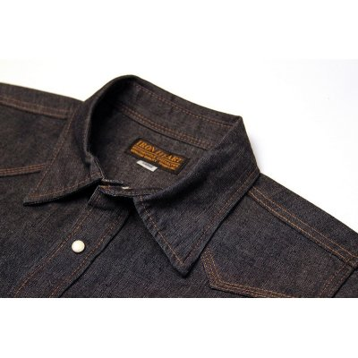 Short Sleeved Heavy Weight Chambray Western Shirt