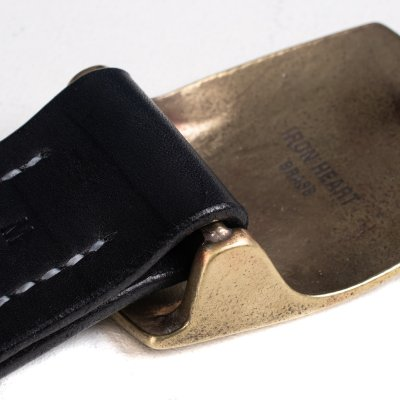 Heavy Plate Brass Buckle Tochigi Leather Belt