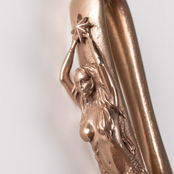 Mermaid Belt Hook Keychain in Bronze by De Luxe Standard