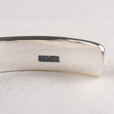 8mm Silver Leaf Pattern Bangle