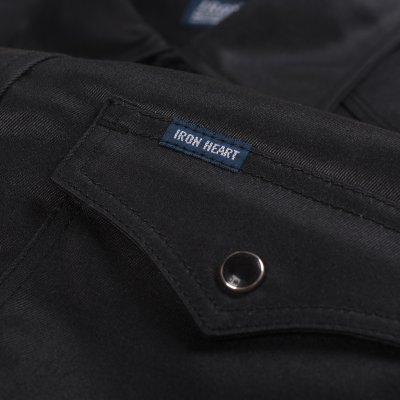 Black 9oz Selvedge Chino Oiled Coated Western Shirt
