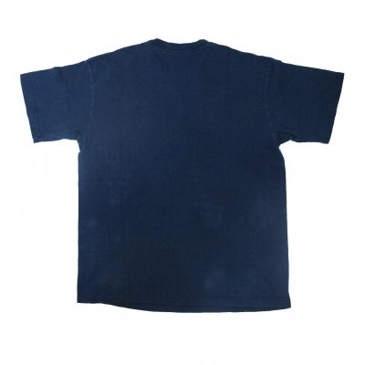 Plain White & Indigo Dyed 5.5oz Loopwheeled T-Shirt