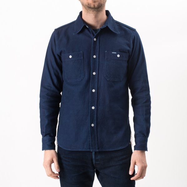 9oz Indigo Double Faced Cotton Work Shirt