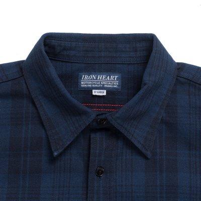 9oz Unbrushed Blue/Black Cotton Flannel Work Shirt PRE-ORDER DEPOSIT