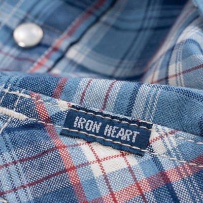5.5oz Indigo Madras Check Western Shirt