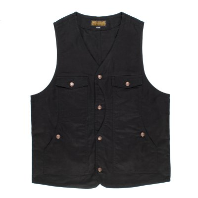 9oz Black Paraffin Coated Hunting Vest
