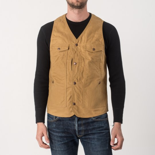 9oz Mustard Paraffin Coated Hunting Vest