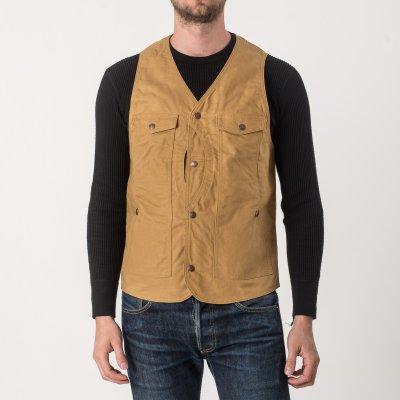 9oz Mustard Paraffin Coated Hunting Vest