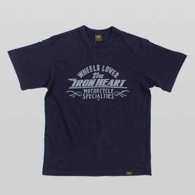 Printed 6.5oz Loopwheel T-Shirts - Navy