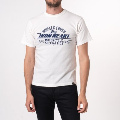 Printed 6.5oz Loopwheel T-Shirts - White