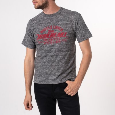 Printed 6.5oz Loopwheel T-Shirts - Grey Marl