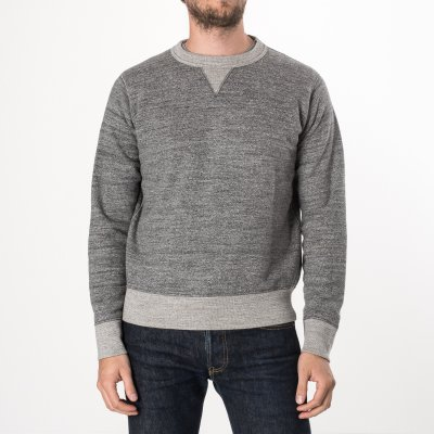 Heavy Loopwheel Fleece Lined Sweater - Grey Marl