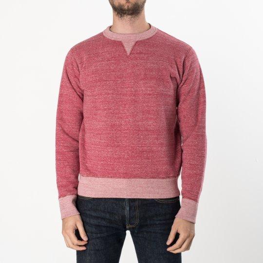 Heavy Loopwheel Fleece Lined Sweater - Red Marl